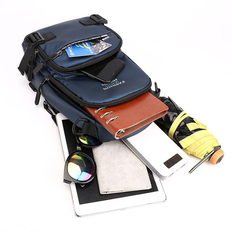 Image 5 - Нейлоновая военная сумка через плечо, мужская сумка на ремне, зарядка через USB интерфейс, повседневный модный мужской рюкзак на одно плечо-in Рюкзаки from Багаж и сумки