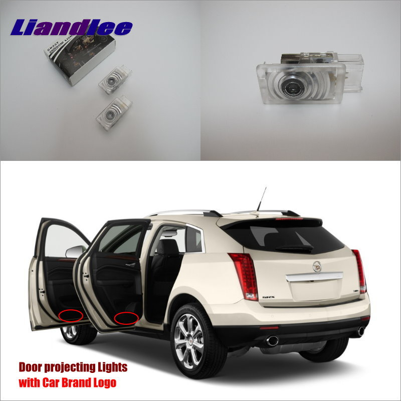 Liandlee Car Door Ghost Shadow Lights For Cadillac SRX 2011 2015 Courtesy Doors Lamp Brand Logo LED Projector Welcome Light in Signal Lamp from Automobiles Motorcycles