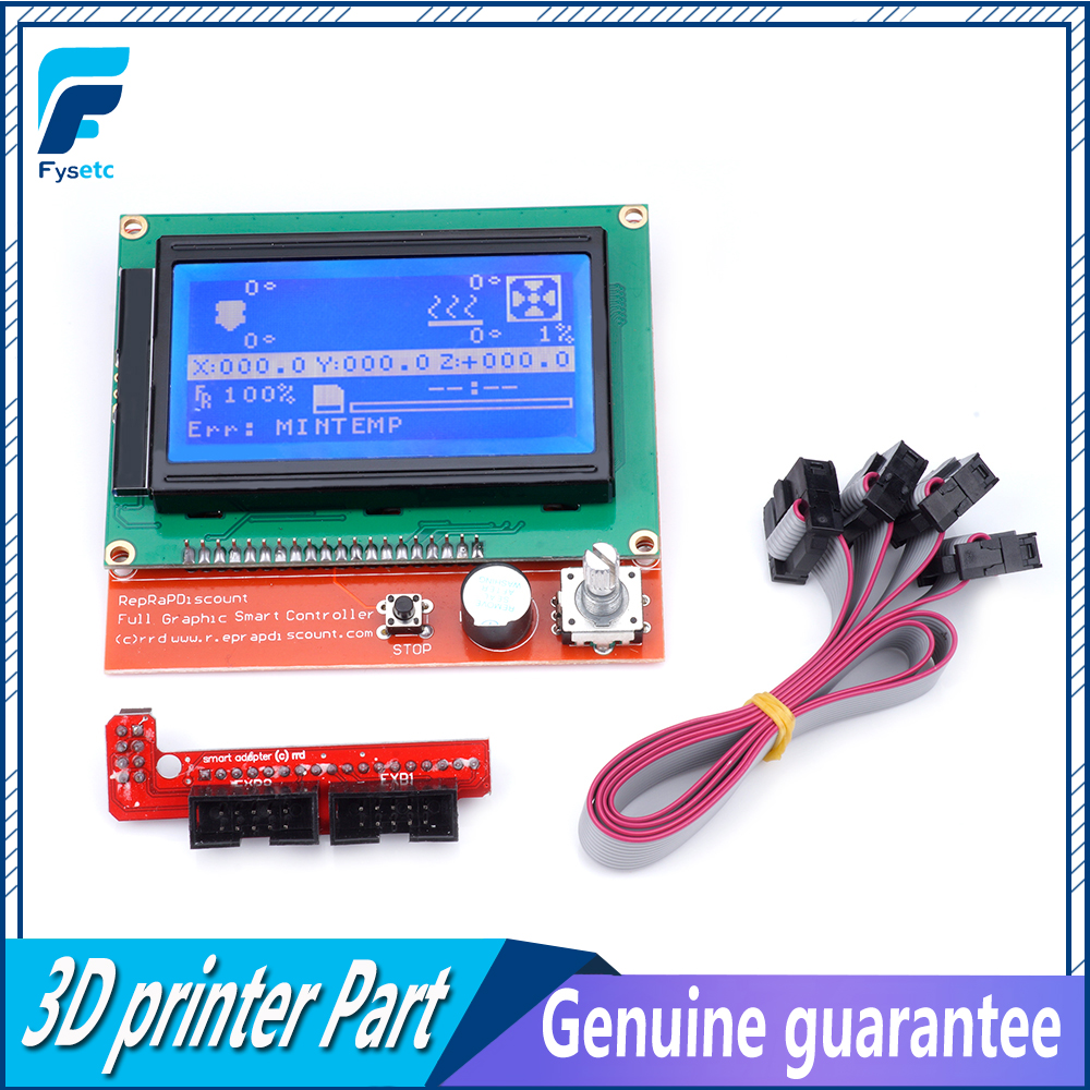 12864 LCD Ramps Parts RAMPS 1.4 Controller Control Panel LCD 12864 Display Monitor Motherboard Blue Screen Module For Anet A6 sandisk cz430 usb 3 1 usb flash drive 64gb mini pen drive 128gb pendrive 32gb memory usb stick 256gb storage device u disk 16gb