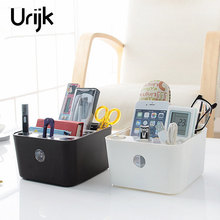 urijk plastic storage box jewelry makeup organizer bathroom storage boxes cosmetic organizers home office table accessories