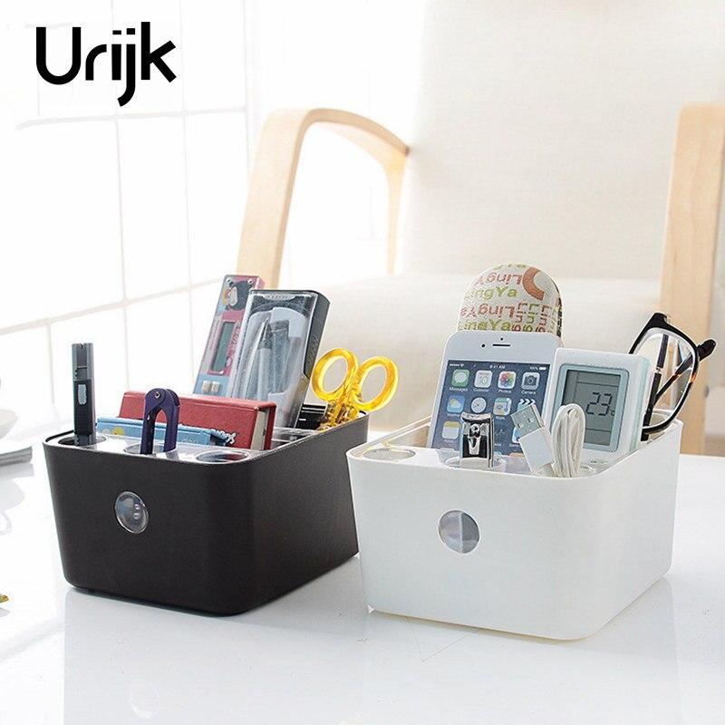 Urijk Plastic Storage Box Jewelry Makeup Organizer Bathroom Storage Boxes Cosmetic Organizers Home Office Table Accessories
