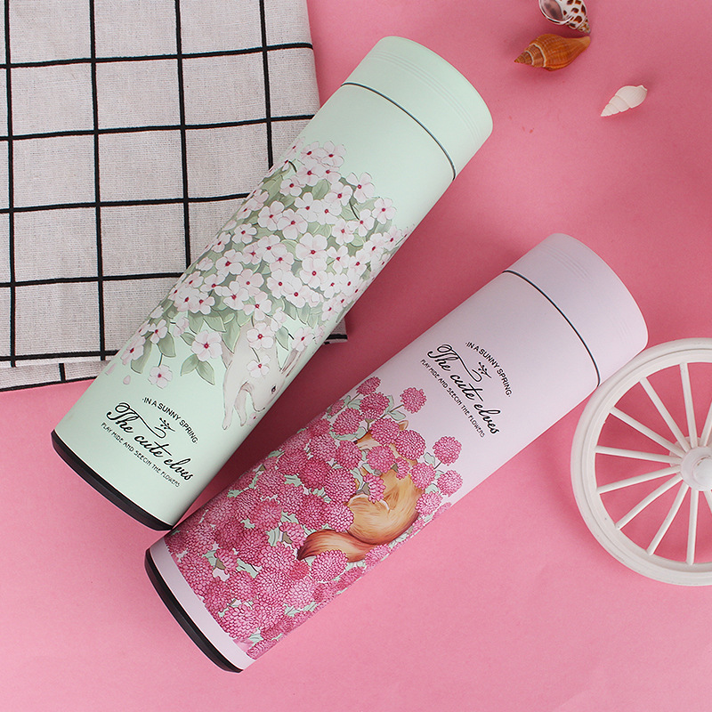 OWNPOWER 500ML Thermos Bottle 304 Stainless Steel Vacuum Flask Insulated Infuser Thermos for Tea Thermocup Travel coffee mug