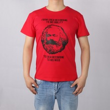 MARXISM COMMUNISM CCCP MARX short sleeve T-shirt Top Lycra Cotton Men T shirt New DIY Style