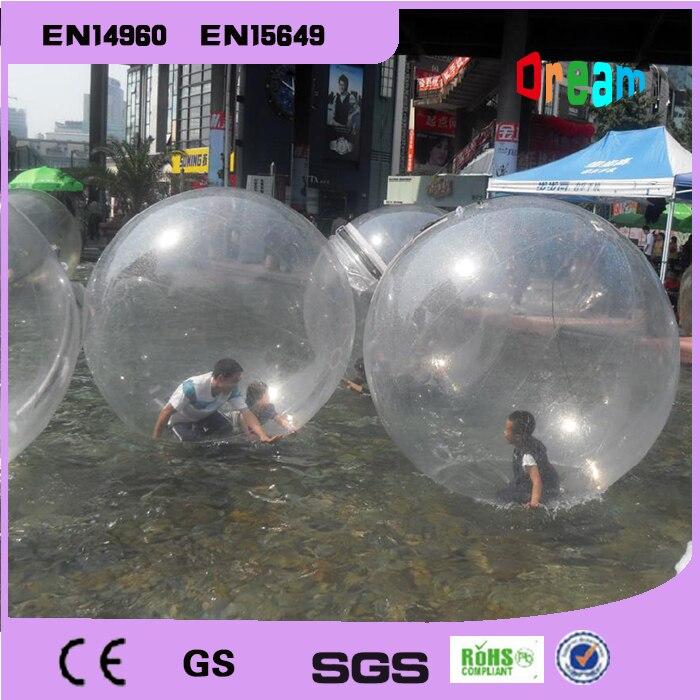 Free Shipping 2m PVC Inflatable Human Hamster Water Football Water Walking Ball Zorbing Water Ball Giant Water Ball Zorb Ball