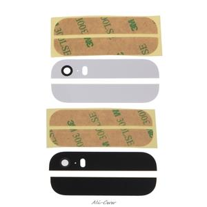 Top and Bottom Back Glass Replacement Panel For iPhone 5S Black Or White Color