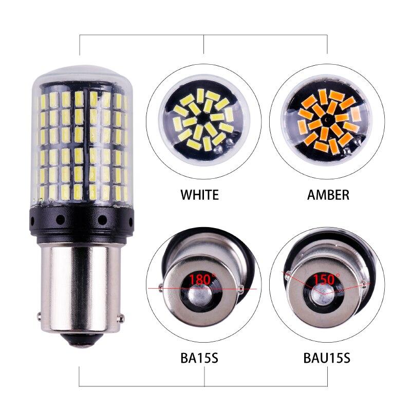 HTB1 zKYTNTpK1RjSZR0q6zEwXXag 1x 3014 144smd CanBus S25 1156 BA15S P21W LED BAY15D BAU15S PY21W lamp T20 LED 7440 W21W W21/5W led Bulbs For Turn Signal Light
