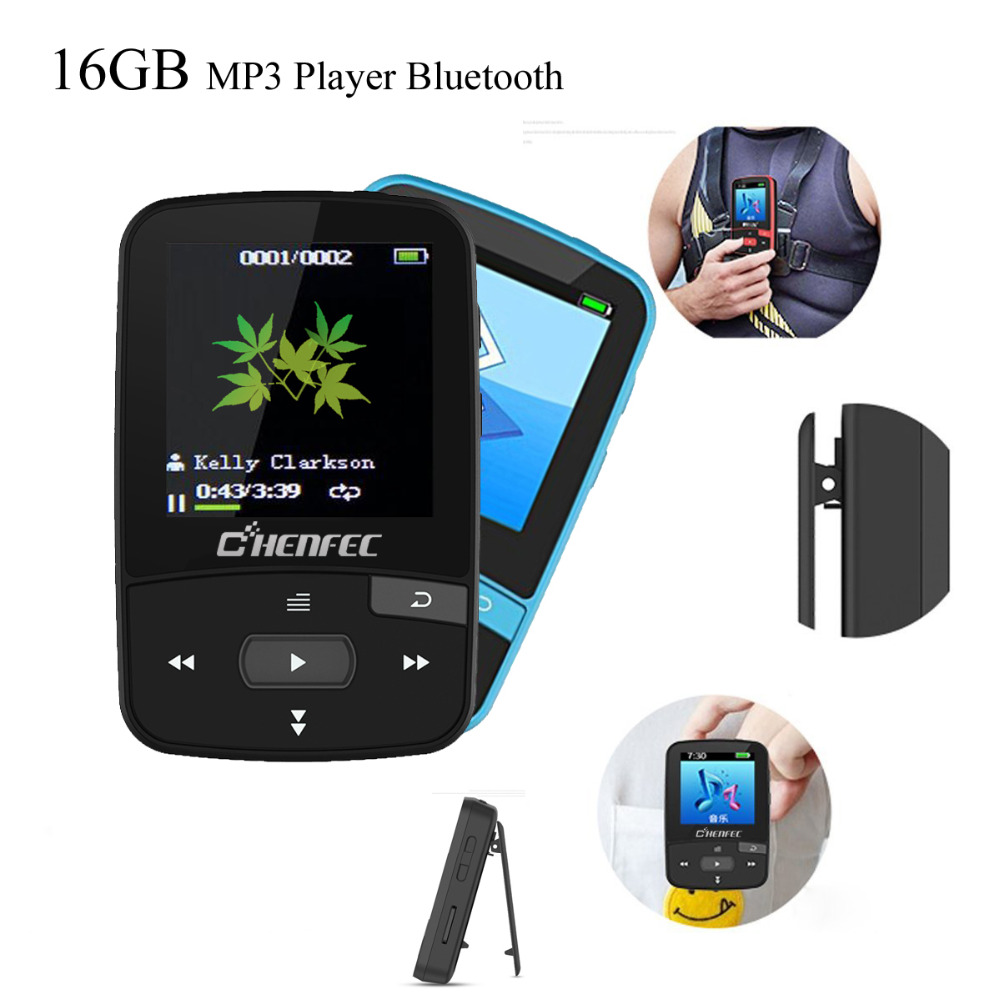 Original MP3 Player Bluetooth 16GB Clip MP3 Sport Running 1.5 Screen with FM Support micro sd card MP3 Music Player RUIZU ks 509 mp3 player stereo headset headphones w tf card slot fm black