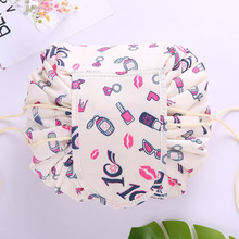 Printing design Cosmetic Bag Drawstring Makeup Case Women Travel Make Up Organizer