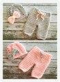 2 цветов 2 шт. hat с Брюками теплые Твердые Новые Одежда для новорожденных set Малышей ручной новорожденный фотографии реквизит