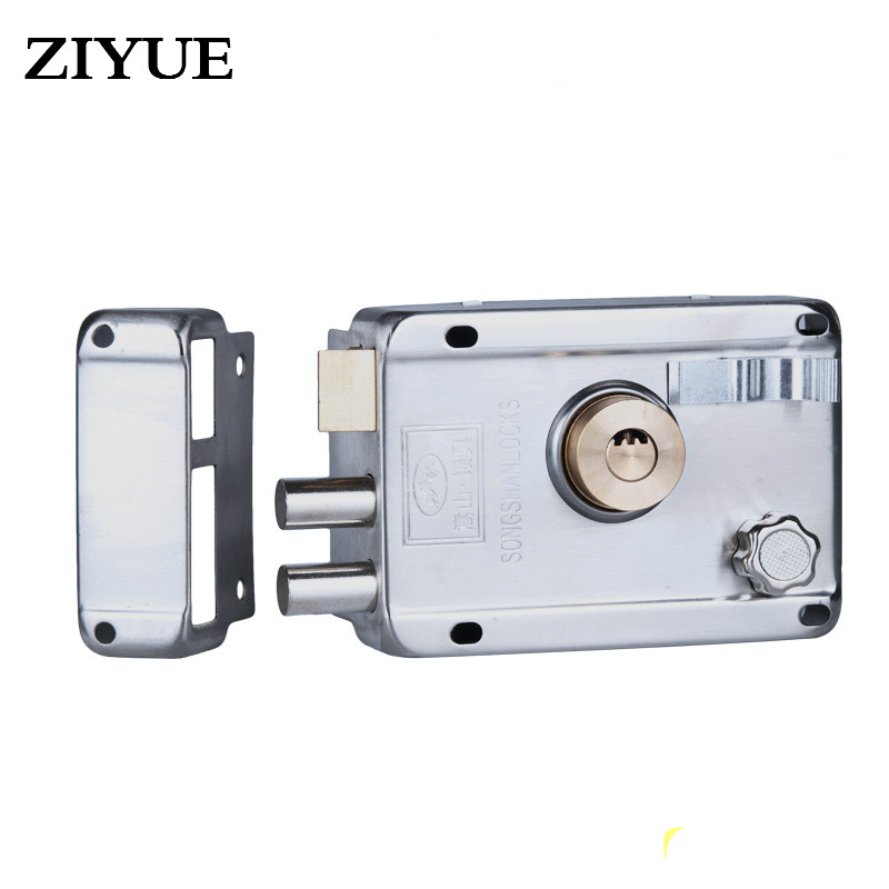 Free Shipping Exterior Door Locks  Chrome  Locks  Copper Atoms Lock Core Anti - Theft Door Locks cylinder accessories factory direct high quality anti theft locks core ab key 65mm full copper cylinder