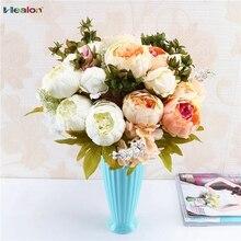 13 κεφαλές Ευρωπαϊκό στυλ πλαστό τεχνητό λουλούδι λουλούδι μεταξιού φαλκιδωτό fake φύλλο γάμου Αρχική σελίδα διακόσμηση γραφείου γραφείο διακόσμηση κήπου