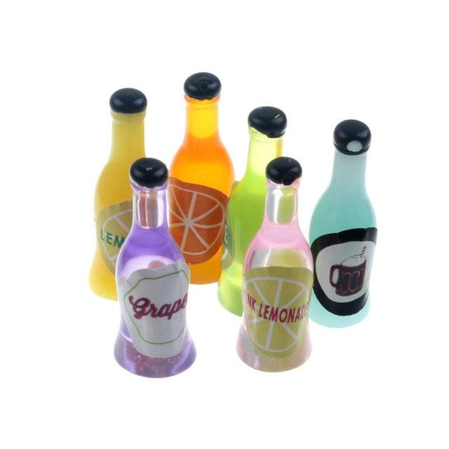 20-8Pcs 3D Resin Bottle Cabochon Crafts Embellishments For Fairy Garden Figurines & Miniatures Home Decoration Accessories Diy 2