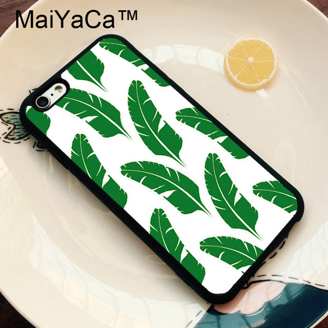 Maiyaca Banana Leaf Tumblr Floral Cute Phone Cases For Iphone 6 Case
