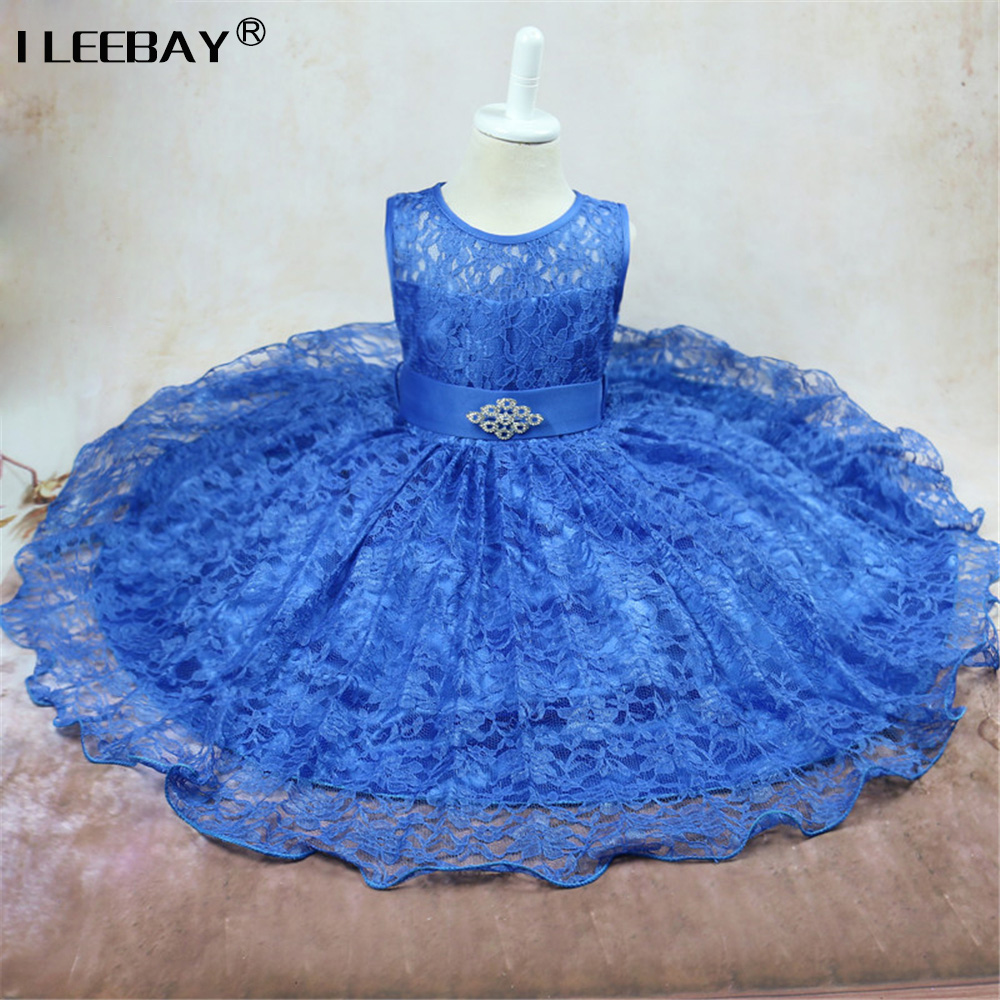 2017 New Summer Dress Girl Children's Lace Princess Party Baby Kids Girls Wedding Dresses Clothes Teenager Prom Gown Costume baby girls summer cotton princess top quality kids sleeveless dress children wedding party clothes girl christmas prom dress