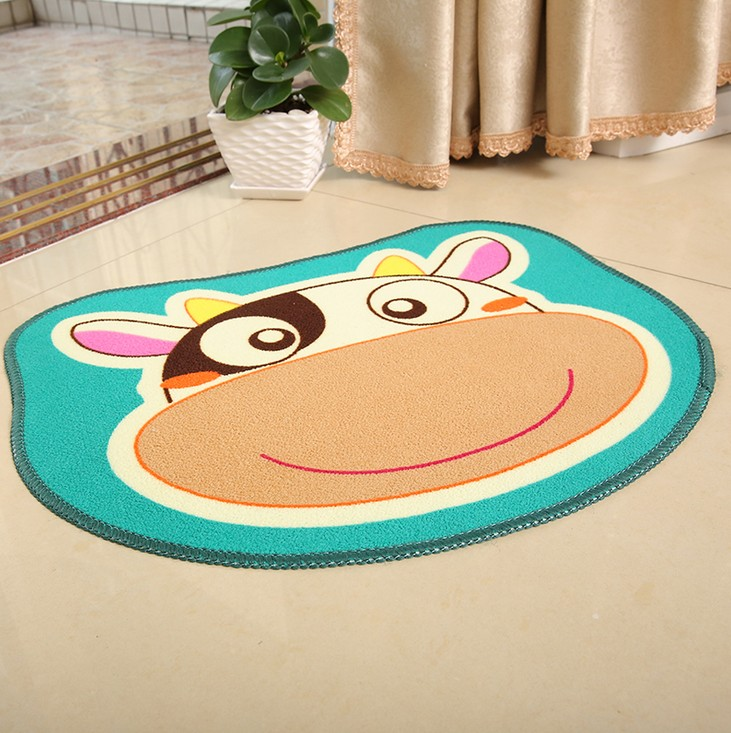 Cartoon floor mat for kids bedroom fleece animal cartoon for Mats for kids room