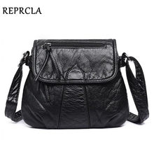 REPRCLA Brand Designer Women Messenger Bags Crossbody Soft PU Leather Shoulder Bag High Quality Fashion Women Bags Handbags(China)