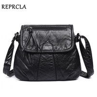 REPRCLA Brand Designer Women Messenger Bags Crossbody Soft PU Leather Shoulder Bag High Quality Fashion Women
