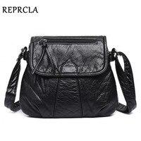 REPRCLA Brand Designer Women Messenger Bags Crossbody Soft PU Leather Shoulder Bag High Quality Fashion Women