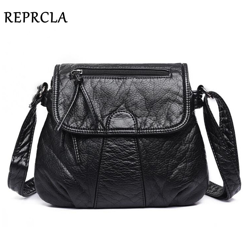 REPRCLA marca de Diseñador de Bolsos de mensajero de mujer bolso de hombro de cuero de PU suave bolsos de mujer de moda de alta calidad bolsos de mano