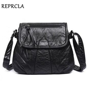 e1db05135 REPRCLA marca de Diseñador de Bolsos de mensajero de mujer bolso de hombro  de cuero de PU suave de alta calidad bolsos de mujer de moda bolsos de mano