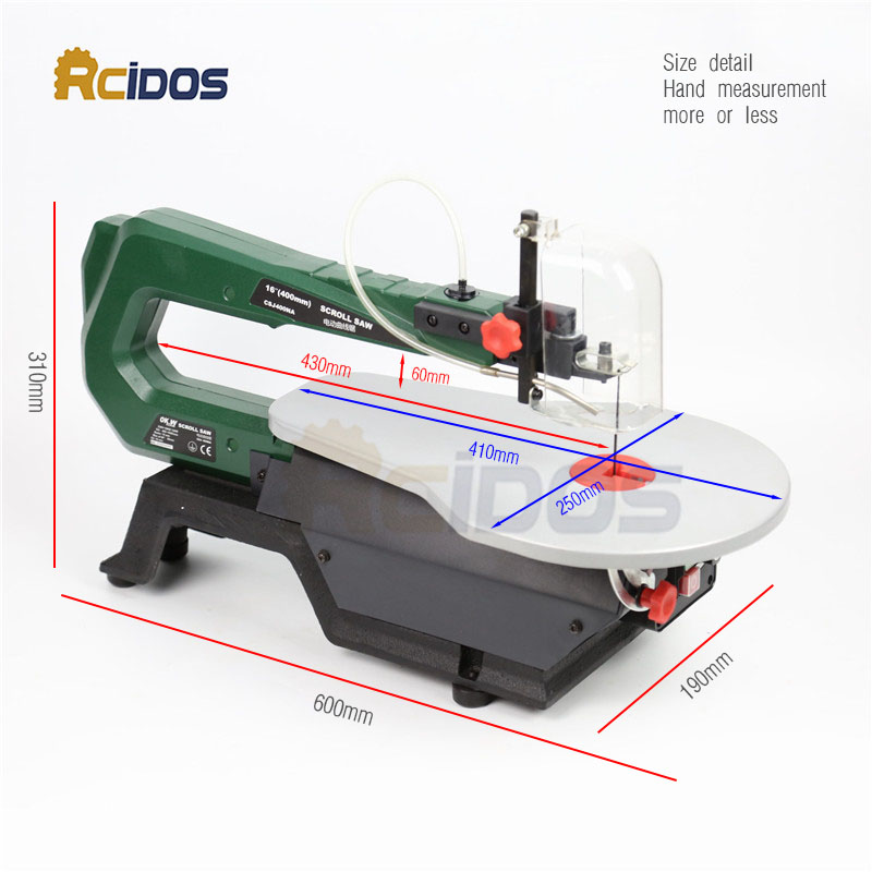 16inch Scroll Saw RCIDOS Mini table saw/Desktop DIY wood Curve Cutting machine,Plastic/Acrylic cutter,220V
