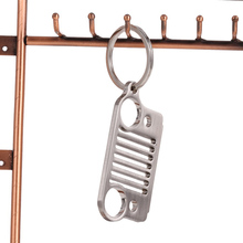 New 1PCS Quality Stainless Steel 304 Key Rings Key Chain Grill for Jeep Grill CJ JK TJ YJ XJ Car Accessories