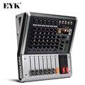 EYK EA60 6 Kanäle Mischen Konsole mit Stumm und PFL Schalter Bluetooth Rekord 3 BAND 16 DSP Effect Professional USB audio-Mixer