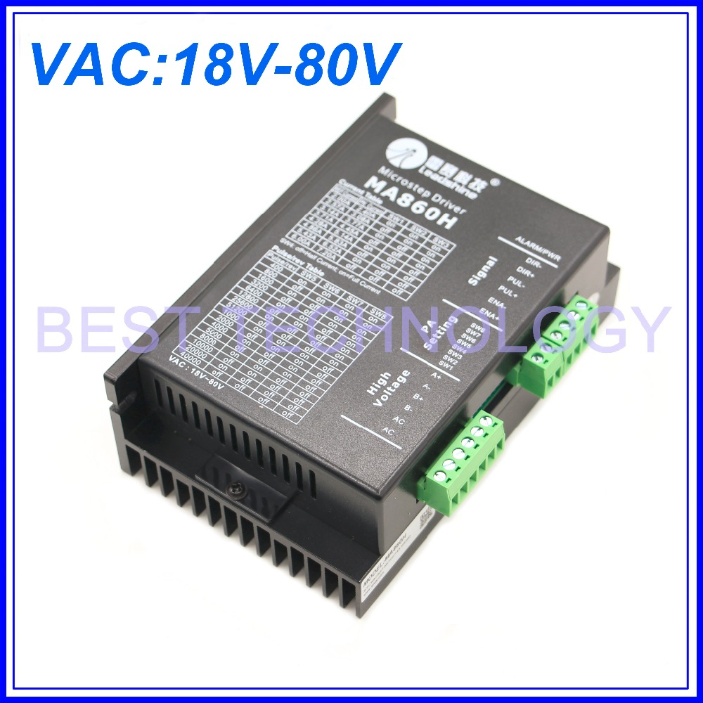 Original MA860H NEMA23 NEMA34 Stepper motor driver Peak Current 2.4A-7.2A 18-80V for CNC Router Engraving Milling Machine! original dma860h cnc nema23 nema34 stepper motor driver peak current 7 2a vac 18 80v for cnc router engraving milling machine