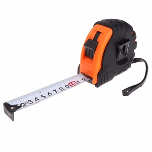 Image 2 - 3m 5m 7.5m Retractable Tape Measure 3 Way Lock Metric Rubber Measuring Tape Rule Steel Tape Ruler