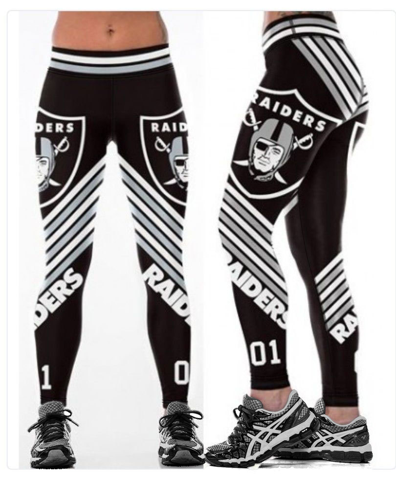 Unisex Football Team Raiders 01 Print Tight Pants Workout Gym Training Running Yoga Sport Fitness Exercise Leggings Dropshipping(China)