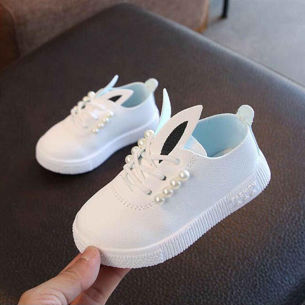 2019 ילדי נעלי ילד חמוד תינוק בני בנות נעלי אוזני ארנב מזדמן תחבושת בד רך נעלי קריקטורה ילדי שטוח גודל 21-23
