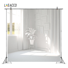 Laeacco Room Interior Photography Backdrops White House Window Curtain Sunshine Plants Photo Backgrounds For Photo Studio Props
