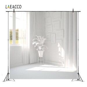 Image 1 - Laeaccoルームインテリア写真撮影の背景ホワイトハウス窓カーテンサンシャイン植物ための写真の背景写真スタジオの小道具