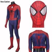 Герой Catcher высокое качество индивидуальный заказ удивительный человек паук костюм для взрослых спандекс с 3D