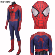 Hero Catcher High Quality Custom Made Amazing Spiderman Costume Adult Spandex Spiderman Suit With 3D Spider