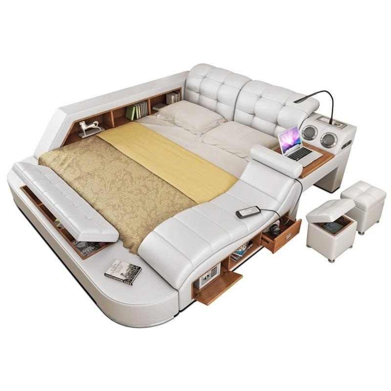 Matrimonio Modern Frame Home Meuble Maison Room Lit Enfant Set Leather Cama Moderna Bedroom Furniture Mueble De Dormitorio Bed