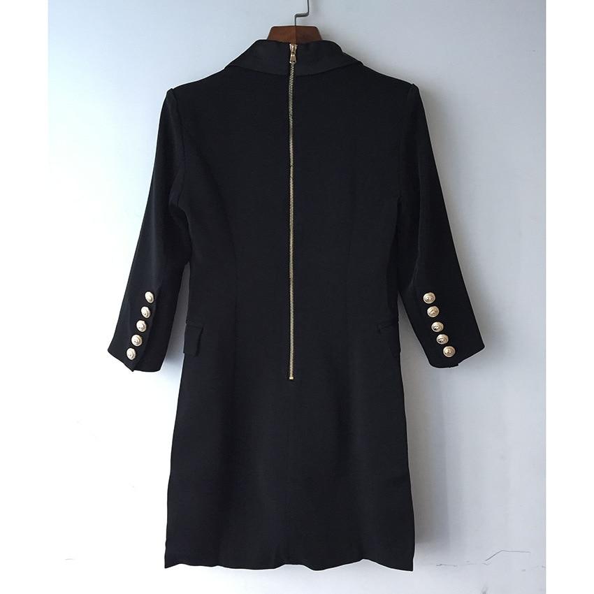 Long Blazer Woman Spring Autumn 2019 New Office Elegant Solid Double Breasted Blazer Femmethree Quarter Black Blazer Women