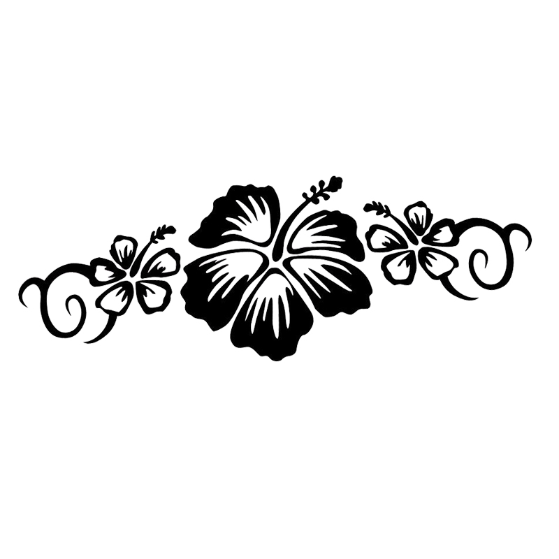 Automobiles & Motorcycles 15*11.5cm Fashion Personality Vinyl Car Wrap Hair Stylist Decal Scissors And Hibiscus Pretty Flower Car Stickers