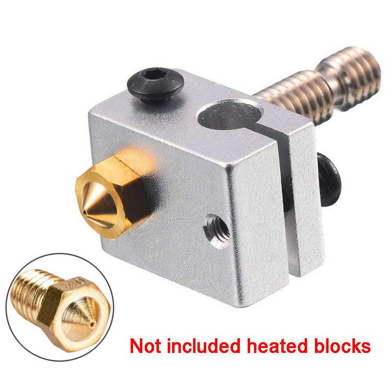 1 chiếc V5 V6 Đầu Phun 0.4mm 0.3mm 0.2mm Đồng 3D In Phần Giàn Phơi Dây Ren 1.75mm 3.0mm Dây Tóc Đầu Đồng Vòi Phun Một Phần