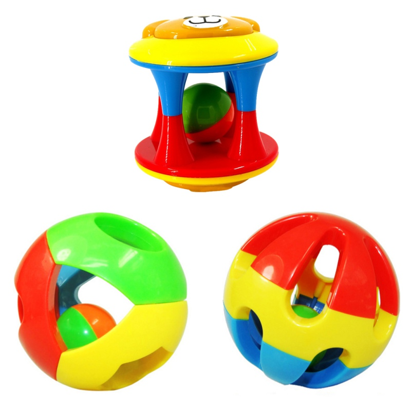 3pcs Spedbarn Rattles Toy Fun Little Høyt Jingle Ball Ring Jingle - Baby og småbarn leker