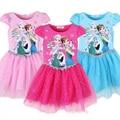 New 2016 Summer Girls Dress Elsa Anna Party Kids Dresses For Girl Clothes Baby Children Princess Vestidos Roupas Infantis Menina