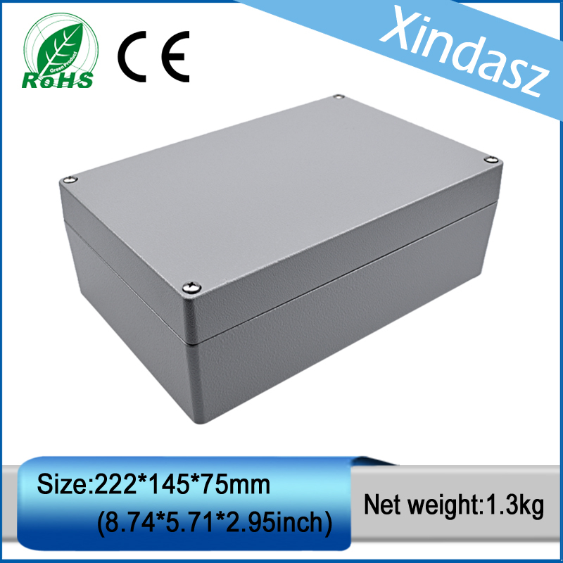 (XD-FA6-1)222*145*80mm Die Cast Aluminum Enclosure IP65 & Sealed Die-Cast Aluminum Enclosures 2014 hot sale high qulity ip65 die cast aluminum waterproof box 222 145 75mm with 6pcs screws and 2 iron mounting feet