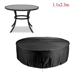 Image 4 - Cubierta redonda de 2 tamaños, impermeable, para exteriores, muebles de jardín y Patio, cubierta para lluvia, nieve, fundas para sillas, sofá, mesa, silla, cubierta a prueba de polvo