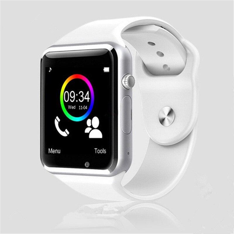 Reloj de pulsera A1 reloj inteligente Bluetooth podómetro deportivo con cámara SIM reloj inteligente para Smartphone Android Rusia T15 bueno que DZ09