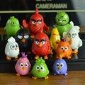 Aves Movie Action Figure Toy 3-5 cm PVC Um-Pássaros Modelo Figura Boneca Brinquedos Para Crianças Crianças Brinquedos 12 pçs/lote