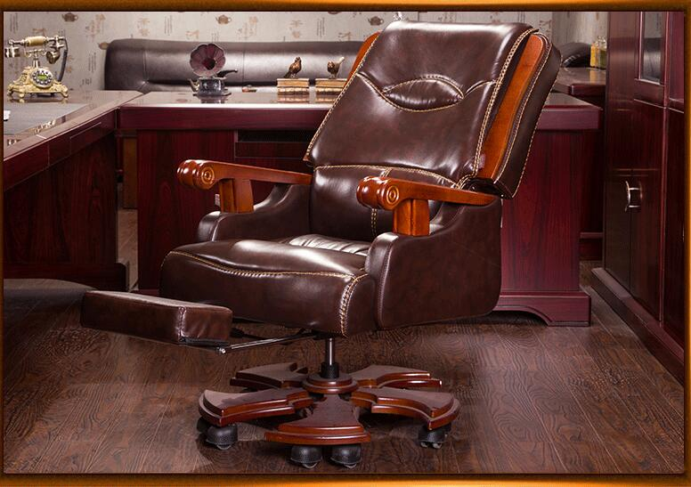 Купить с кэшбэком Simple Office Chair.Boss Chair Leather Computer Chair Household Reclining Leather Class Chair.