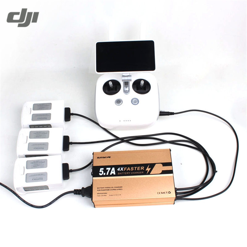 DJI Phantom 4/4 PRO/4 PRO+ Battery Remote Control Transmitter 4 in 1 Multi Intelligent Parallel Smart Charger Charging original dji phantom 4 battery charging hub intelligent charge up to three intelligent fly batteries for phantom 4 series