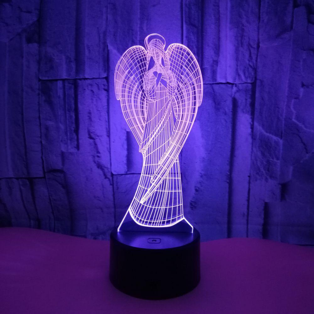 Neue Engel 3d Kleines Nachtlicht Remote Touch Bunte Geschenke 3d Kleine Kinder Lampe Luminaria De Mesa 3d Leuchten