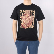 Ganesh Artist Male Elephant God Cotton Lycra t-shirt Top New Arrival Fashion Brand T Shirt For Men