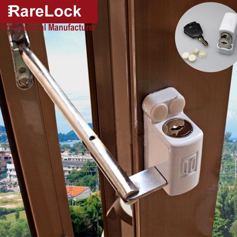 Rarelock MS91 Baby Safety Window Chain Lock for Balcony Glass Sliding Door Bathroom Accessories Home Security Hardware DIY a smiley face door window children safety lock band 2 pack set